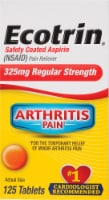 Ecotrin Pain Releiving Tablets 325mg 125 Count