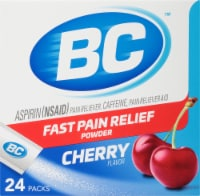 BC Aspirin (NSAID) Caffiene Pain Reliever Aid Cherry Powder