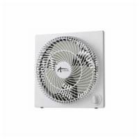 9  3-Speed Desktop Box Fan | Plastic | White - Count of: 1