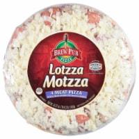 Brew Pub Pizza Lotzza Motzza 4-Meat Pizza
