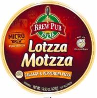 Brew Pub Lotzza Motzza Sausage & Pepperoni Pizza