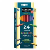 Triangle Colored Pencils, 7 , 24 Per Pack - 1