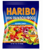Haribo Gummi Candy, Mini Rainbow Frogs, 5 oz. Bags (12 count) - 12 Count