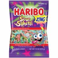 Haribo Zing Sour S'ghetti Gummi Candy Share Size