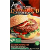 Amy's Quarter Pound Veggie Burger - 4 ct / 4 oz
