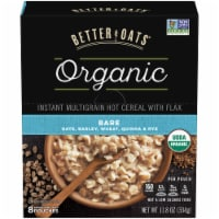 Better Oats Organic Bare Instant Multigrain Hot Cereal 8 Count
