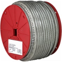 Baron Clear Vinyl Galvanized Steel 3/16 in. Dia. x 250 ft. L Cable - Case Of: 1 - Count of: 1
