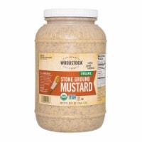 Woodstock Organic Stone Ground Mustard - Case of 4 - 128 OZ - Case of 4 - 128 OZ each
