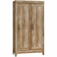 Sauder Adept 2 Door Storage Cabinet in Craftsman Oak - 1