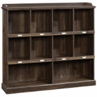 Sauder Barrister Lane Engineered Wood 10-Cubby Bookcase in Iron Oak - 1