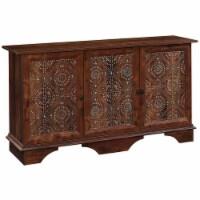 Sauder Viabella Contemporary Wood Buffet and Sideboard Table in Curado Cherry - 1