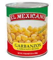 El Mexicano Garbanzo Beans - 30 oz