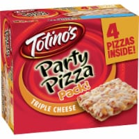 Totino's Frozen Triple Cheese Party Pizza Pack - 4 ct / 9.8 oz