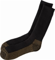 Carhartt® Men's Full-Cushion Steel-Toe Synthetic Work Boot Socks - Heather Black - L