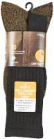 Carhartt® Men's Full Cushioned Steel-Toe Cotton Work Boot Socks - 2 Pack - Black - XL