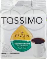 Tassimo Gevalia Kaffe Signature Blend Medium Roast Decaffeinated Coffee Discs