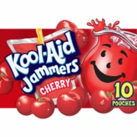 Kool-Aid Jammers Cherry Flavored Drink Pouches