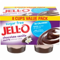 Jell-O Chocolate Vanilla Swirls Reduced Calorie Pudding Snacks 8 Count