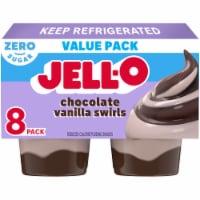 Jell-O Chocolate Vanilla Swirls Reduced Calorie Pudding Snacks