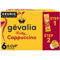 Gevalia Cappuccino Espresso K-Cups Pods & Froth Packets