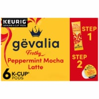 Gevalia Peppermint Mocha Latte Espresso Coffee K-Cup Pods & Froth Packets
