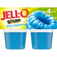 Jell-O Sours Blue Raspberry Gelatin Snacks 4 Count