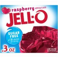 Jell-O Sugar Free Raspberry Gelatin Mix - 0.3 oz