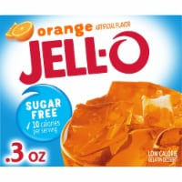 Jell-O Sugar Free Orange Gelatin Dessert Mix - 0.3 oz