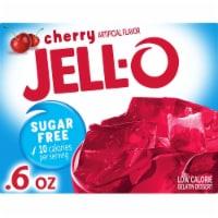 Jell-O Sugar Free Low Calorie Cherry Gelatin Dessert - 0.6 oz