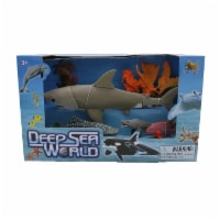 Deep Sea World 6 Pack, Great White, Whale Shark, Grouper, Crab, Seahorse, Frilled Shark - 1
