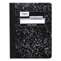 Composition Book, Wide Ruled, 100 Sheets, 9 3/4  x 7 1/2 , Black Marble - 1