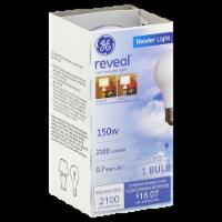 GE Reveal 150-Watt Reader A21 Light Bulb - 1 ct