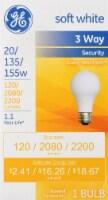 GE 20/135/155 Watt A21 Security Light Bulb - 1 ct
