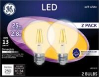 GE G25 E26 (Medium) LED Bulb Soft White 25 Watt Equivalence 2 pk - Case Of: 1; - Count of: 1