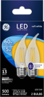 GE 5-Watt (60-Watt) Medium Base Candelabra LED Light Bulbs - 2 pk