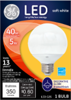 GE 5-Watt (40-Watt) Decorative Globe Soft White LED G25 Light Bulb - 1 ct