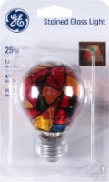 GE Medium Base A19 Stained Glass Light Bulb - 1 ct