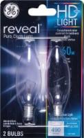 GE Reveal 60-Watt Candelabra Base Light Bulbs - 2 Pack