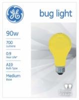 GE 90-Watt Bug Lite Outdoor Light Bulbs - 2 Pack
