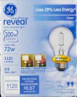 GE Energy Efficient Reveal Clear Halogen Light Bulbs - 2 pk