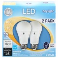 GE 15-Watt LED Daylight Light Bulbs - 2 pk
