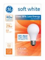 GE 29-Watt (40-Watt) A19 Halogen Light Bulbs - 4 pk
