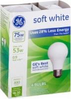 GE Energy-Efficient Soft White Halogen Light Bulbs - 4 pk