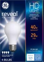 GE 29-Watt (40-Watt) General Purpose A19 Halogen Light Bulbs - 4 pk