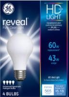 GE Reveal Enhanced Spectrum Halogen Light Bulbs - 4 pk
