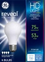 GE Reveal 53-Watt (75-Watt) General Purpose Halogen Light Bulbs - 4 pk