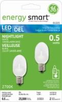 GE Energy Smart LED 0.5-Watt Nightlight Bulb - 2 Pack - White - 2 Pack