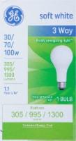 GE 30/70/100-Watt 3-Way A21 Light Bulb - 1 ct