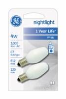 GE 4-Watt Candelabra C7 Nightlight Bulbs - 2 pk