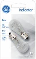 GE 6-Watt Clear Indicator Light Bulbs - 2 pk